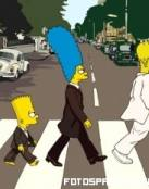 Los Simpsons imitando a los Beatles