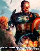 Spiderman y Capitan América en zombies Marvel