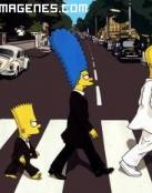 Los Simpsons emulando a Beatles